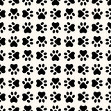 Seamless animal pattern of paw footprint Royalty Free Stock Image