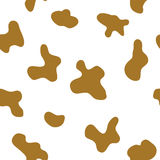 Seamless animal pattern for textile design. Seamless pattern of cow spots. Natural textures Stock Images