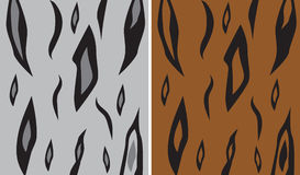 Seamless animal patterns. Set  (brown and gray Stock Photos