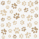 Seamless animal paw footprint Royalty Free Stock Images