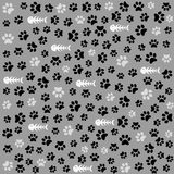 Seamless animal paw footprint Royalty Free Stock Photography