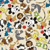 Seamless Animal Sport Pattern Stock Images