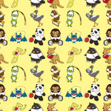 Seamless animal sport pattern Royalty Free Stock Photo