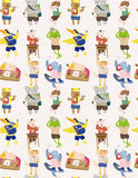 Seamless animal student pattern Stock Photo