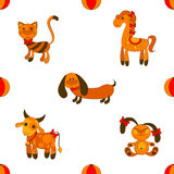 Seamless animales pattern Stock Images