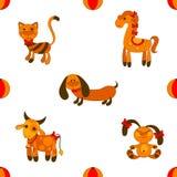 Seamless animales pattern. Vector illustartion royalty free illustration