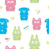 Seamless Animals Cartoon stock illustration