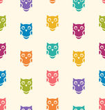 Seamless Animals Owl Pattern Royalty Free Stock Images