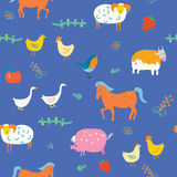 Seamless animals pattern Royalty Free Stock Photo