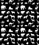 Seamless animals  silhouettes  pattern Royalty Free Stock Photography