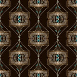 Seamless antique art deco pattern ornament. Geometric background Royalty Free Stock Photography