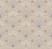 Seamless antique brown floral wallpaper. For wall decoration Royalty Free Stock Photography