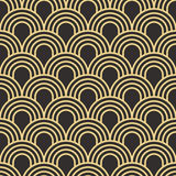 Seamless antique palette simple art deco wave scales pattern vector. Seamless antique palette simple art deco wave scales pattern Royalty Free Stock Photo