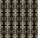 Seamless antique pattern ornament. Geometric art deco stylish ba Royalty Free Stock Photos