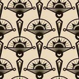 Seamless antique pattern ornament. Geometric art deco stylish ba Royalty Free Stock Photography