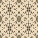 Seamless antique pattern ornament geometric art deco stylish bac Stock Image