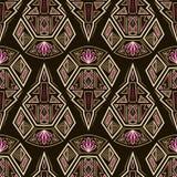Seamless antique pattern ornament. Geometric art stylish backgro Stock Image
