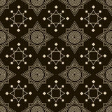 Seamless antique pattern ornament. Geometric stylish background Stock Images