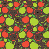 Seamless apple background. Vector illustration of apples bacground Royalty Free Illustration