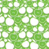 Seamless apple background. Vector illustration of green and white apples Royalty Free Stock Photos