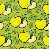 Seamless apple background Royalty Free Stock Photos
