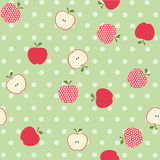 Seamless apple background Royalty Free Stock Photo