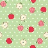 Seamless apple background Royalty Free Stock Photo