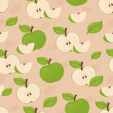 Seamless apple background. Royalty Free Stock Images