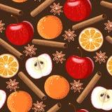 Seamless apple and orange Royalty Free Stock Photo