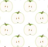Seamless Apple Pattern. You can use this repeating pattern to fill your own custom shapes and backgrounds Royalty Free Stock Image