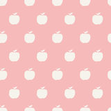 Seamless apple pattern Stock Photos