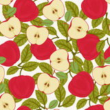 Seamless apple pattern Stock Image
