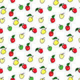 Seamless apple pattern. Including sample in swatch panel ai Stock Photo