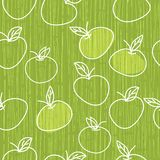 Seamless apple pattern in vector Royalty Free Stock Images