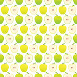 Seamless apple pattern - yellow and green apples. Stock Image