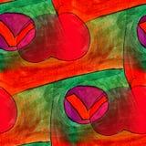 Seamless apple, red, green light watercolor artist wallpaper mod Stock Photography