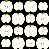 Seamless Apple Wallpaper. You can use this repeating pattern to fill your own custom shapes and backgrounds Royalty Free Stock Photo