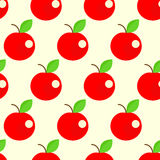 Seamless apples background. Vector illustration Royalty Free Stock Images