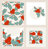 Seamless apples border and cards Stock Photography