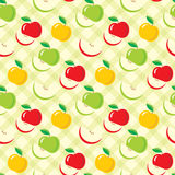 Seamless apples pattern Royalty Free Stock Photography