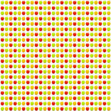 Seamless apples pattern Stock Photos