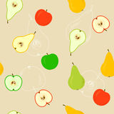 Seamless With Apples And Pears Stock Photos