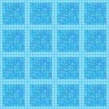 Seamless aqua blue geometric texture Stock Image