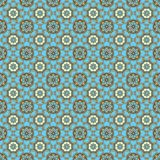Seamless Aqua & Brown Medallions Stock Image