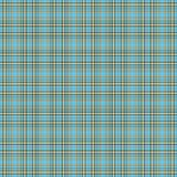 Seamless Aqua & Brown Plaid Royalty Free Stock Photo