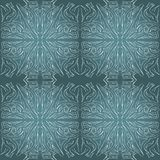 Seamless aqua tile with lacy patterns. Hand drawing in the style of sentangle. Suitable for sheathing or wrapping. stock image