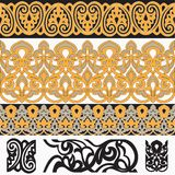 Seamless Arab Borders set 4. Seamless Arab Borders with template elements vector illustration Royalty Free Stock Photo