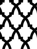 Seamless arab mosaic. Seamless mosaic pattern in arab style, black and white Stock Images