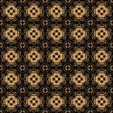 Seamless arabesque black and gold pattern Royalty Free Stock Photos