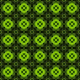 seamless arabesque pattern black and green Royalty Free Stock Images
